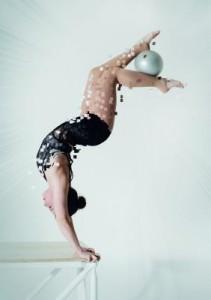 Handstandartistin Nathalie Wecker
