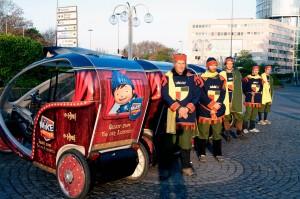 Mike, der Ritter, unterwegs mit perpedalo durch Köln