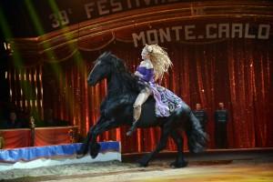 Anastasia Fedotova-Stykan beim Internationalen Circusfestival von Monte Carlo (Foto:Charly Gallo)