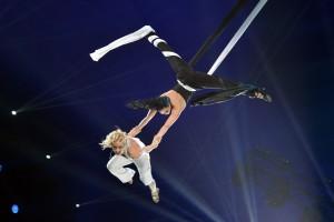 Das Duo Black and White aus Russland beim Internationalen Circusfestival von Monte Carlo (Foto: Charly Gallo)
