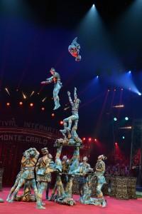 Ikariertruppe aus Tianjin in China beim Internationalen Circusfestival von Monte Carlo (Foto: Charly Gallo)