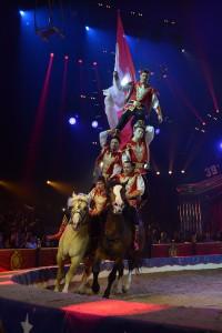 Die Kosakenreiterei des Bolschoi Circus aus Moskau beim Internationalen Circusfestival von Monte Carlo (Foto: Charly Gallo)