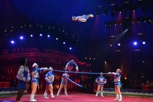 Die Truppe Shatirov aus Russland beim Internationalen Circusfestival von Monte Carlo (Foto: Charly Gallo)