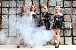 Die Damenband Manon & Co. spielt moderne Dinnermusik