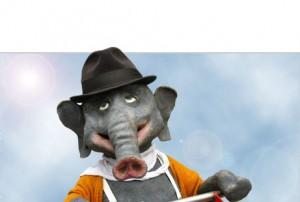 Walk-Act Jochen, der Elefant