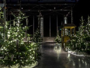 Eventlocation Schilde-Halle mit Winterwald