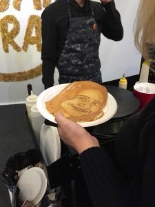 Fertig: Pfannkuchen-Portait auf der #boe16