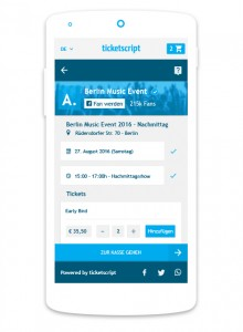 Online-Ticketing ticketscript