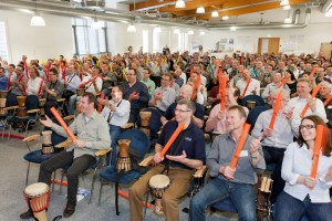 Boomwhacker in den Eventmoods Fanmeile und Sportsommer 2016 collected by memo-media