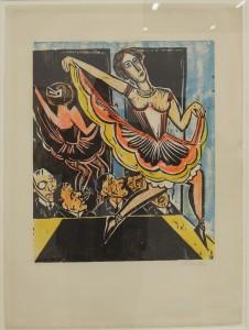 Art Cologne Hermann Max Pechstein, Tänzerin im Spiegel, 1923