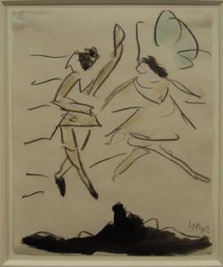 Art Cologne Hermann Max Pechstein, Tanzendes Paar, 1912