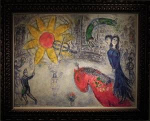 Art Cologne Marc Chagall, Soleil au Cheval Rouge, 1977