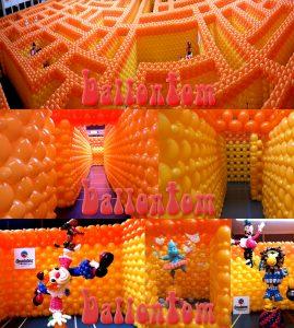 Ballonwelten als Attraktion ballontom ballonlabyrinth