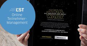 Code eingeben, rückmelden - und schon stehen Sie auf der digitalen Gästeliste