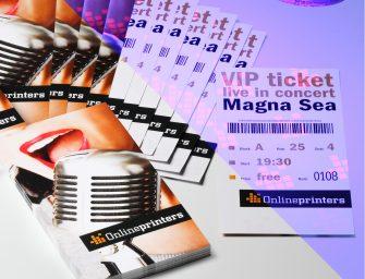 Bedruckte Eintrittskarten mit Spezialfarbe schützen vor Ticketbetrug