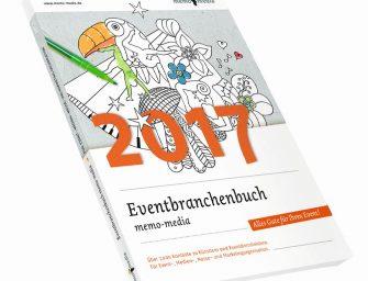 Eventplanung mit dem Eventbranchenbuch 2017 von memo-media