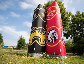 Kein Strom, keine Geräusche: Aufblasbare Werbesäulen von no problaim