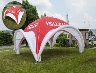 Aufblasbare Zelte ohne Gebläse als Eventlocation von no problaim