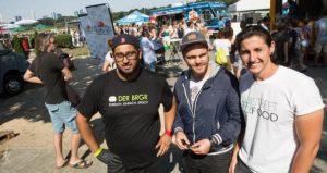 Das Team von BE! Street Food im Einsatz