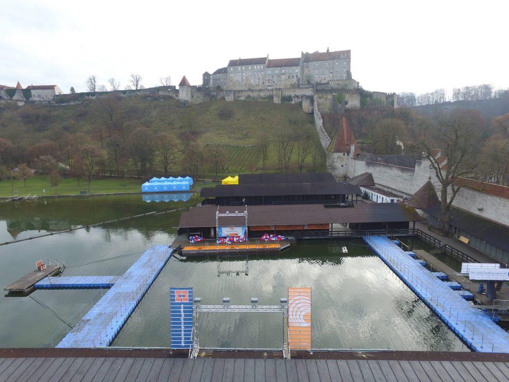 Schwimmpontons für Events