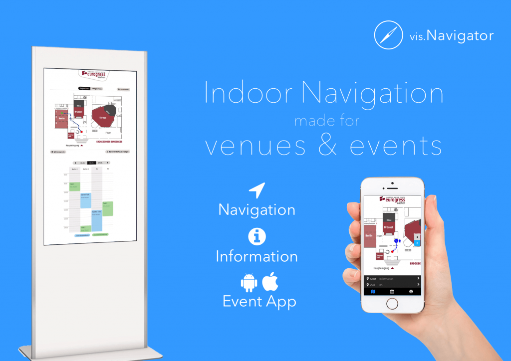 Indoor-Navigation für Eventlocations