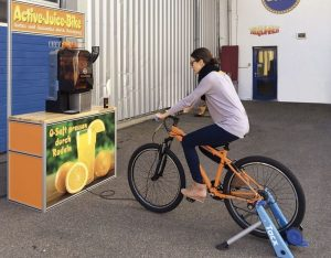 Eigenkreation: Das Active Juice Bike.