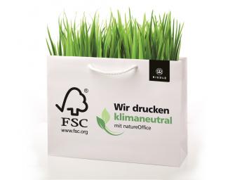 Umweltfreundliche Papiertragetaschen als Werbemittel von Riedle