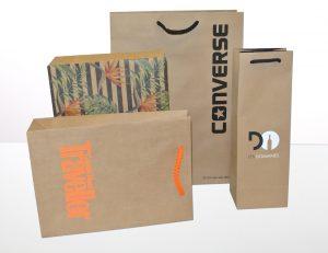 Umweltfreundliche Papiertragetaschen
