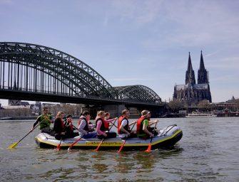 Teambuilding mit GPS-Touren oder Rafting auf dem Rhein