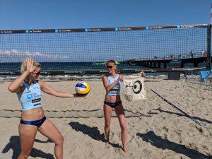 Beachvolleyball-Team Stefanie Hüttermann und Anna Hoja