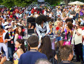 Abgedreht und voll aufgedreht: Dance Parader, der rollende Walk-Act mit Musik