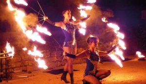 Spektakulär: Feuershow für Events von Project PQ.