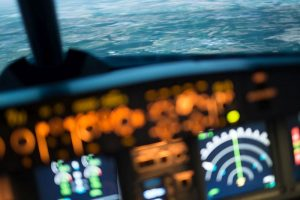 Flugsimulator als Teambuilding in der echten Pilotenschule.