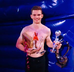 Tim Kriegler gewinnt den silbernen Clown in Monte Carlo.
