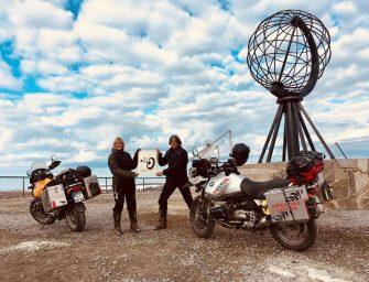 Mit dem Motorrad ans Nordkap: Ein lebensveränderndes Abenteuer für den guten Zweck