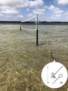 Selbst im Wasser lassen sich Gegenstände sichern.