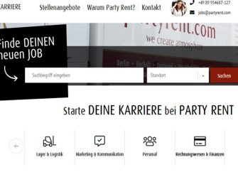 Jobs in der Eventbranche: Party Rent mit neuem Karriereportal