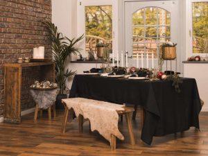 Durch gut positionierte, dezente Dekorationen können Sie Ihren Events Atmosphäre verleihen.
