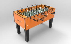 Der Kicker im Coperate Design macht das Tischfußball-Entertainment komplett.
