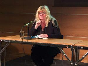 Die ehemalige Pippi Langstrumpf-Darstellerin Inger Nielsson hielt die Lesung in Schweden.