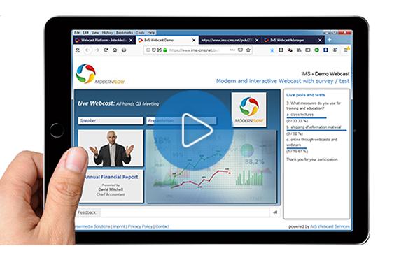 Die Live Streaming Plattform von IMS kann durch Passwort vor fremden Zugriffen geschützt werden.