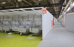 Interims-Krankenhaus in Berlin mit der Notfall-Wasserversorgung von MTD.