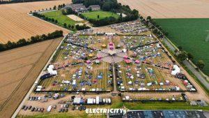 Der Aufbau des coronakonformen Electricity-Festivals.