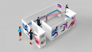 Die S-BOX ist die von SIMONS WORKS entwickelte Eingangsschleuse für Events.