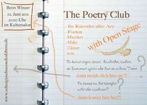 Poetry Club mit Open Stage