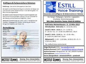 Estill Voice Training - Kräftigere und farbenreichere Stimmen