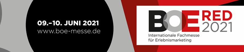 ABGESAGT: BOE Red - Internationale Fachmesse für Erlebnismarketing 2021