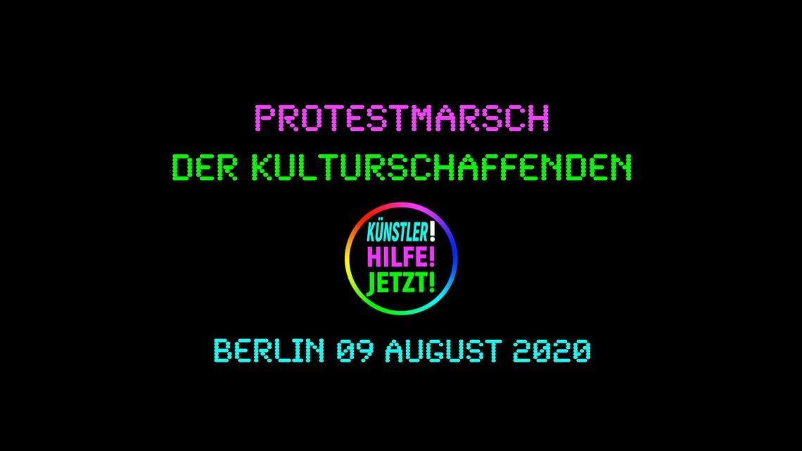 Protestmarsch der Kulturschaffenden in Berlin