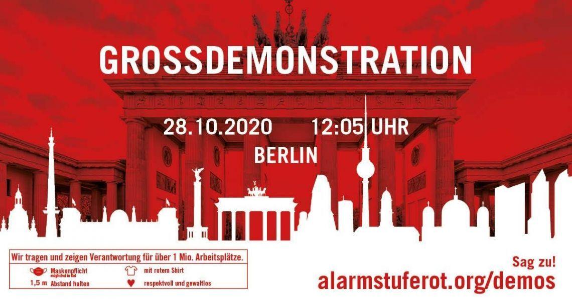 AlarmstufeRot: Großdemonstration zur Rettung der Veranstaltungswirtschaft