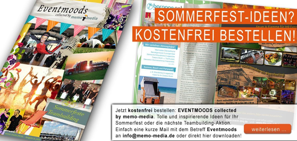 Eventmoods collected by memo-media - Ausgabe 1-2015
